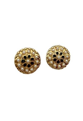 Kings Collection gold Victorian Earrings (KJEA20050) CF5DBAC98FAB77GS_1