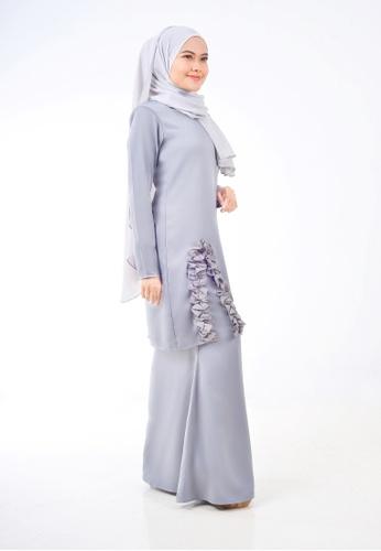 Assie Modesty grey Dollies Kurung C0EECAA7A1F269GS_1