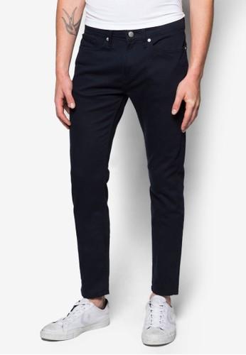 經典丹寧窄管長褲zalora 手錶 評價, 服飾, 緊身牛仔褲