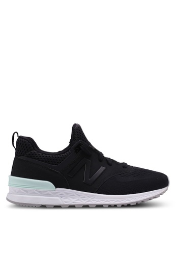 New Balance black 574 Sport Lifestyle Sneakers 28114SHD402EA0GS_1
