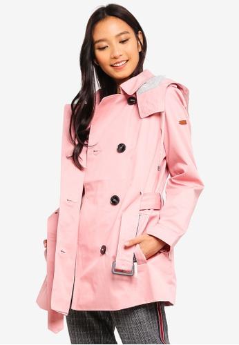 ESPRIT pink Regular Woven Coat 5A900AAD7BC6E8GS_1