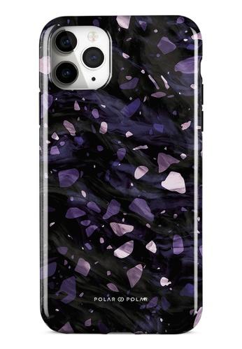Polar Polar purple Lilac Terrazzo Gem Dual-Layer Tough Case Glossy For iPhone 11 Pro Max 0F675AC8BD6397GS_1