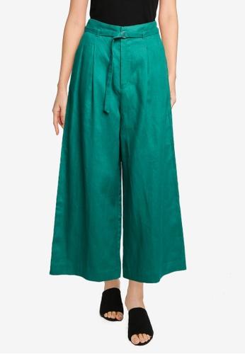 niko and ... green Belted Wide Leg Pants 7D2C9AAFA0382CGS_1
