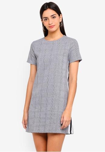 ZALORA grey and multi Shift Dress With Side Stripe 79496AA11E2AB1GS_1