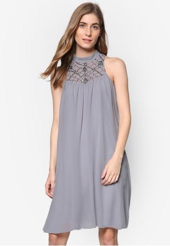 *Showcase: 高領閃飾無袖尖沙咀 esprit連身裙, 服飾, 服飾