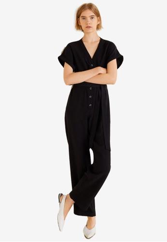 Mango black Bow Long Jumpsuit 604C5AA9667387GS_1