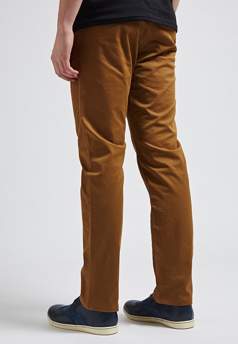 brown 02346 Coffee Washed Style Preppy Life8 Pants Chino OBF4OqP