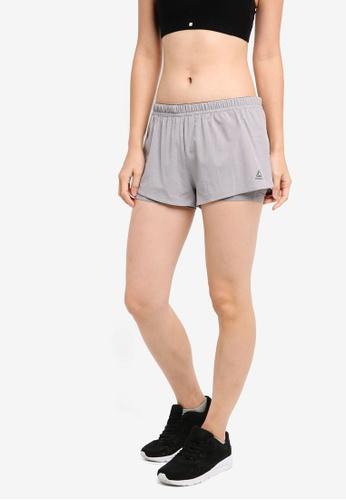 Reebok grey 2-1 Shorts RE691AA0SVZCMY_1
