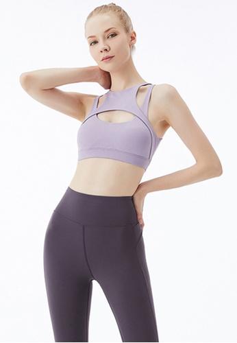 Trendyshop 紫色 貼身健身瑜伽胸圍 2DDB1US9EF95A7GS_1