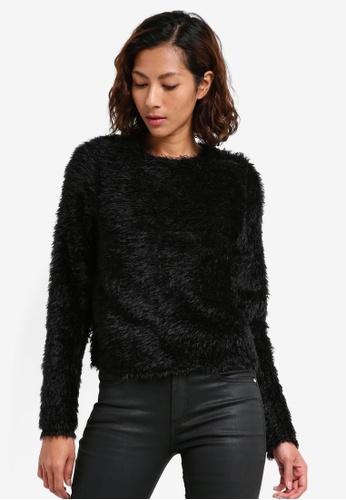 Mango black Textured Sweater C4E7EAAC22B285GS_1