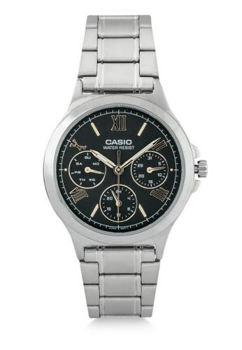 Casio black and silver Casio Women Ltp-V300D-1A2Udf Silver Black C635DAC4C4BB7FGS_1