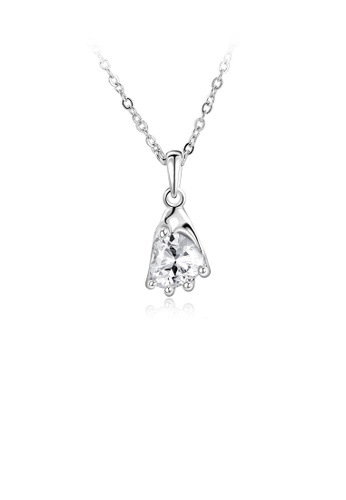 Glamorousky white Fashion Elegant Heart Pendant with Cubic Zircon and Necklace F3C26AC03F9862GS_1