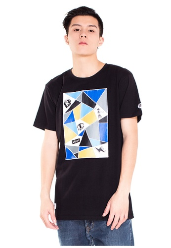 Reoparudo black RPD Colourful Pottery Collection Large Print T-shirt (Black) RE413AA0F9PUSG_1