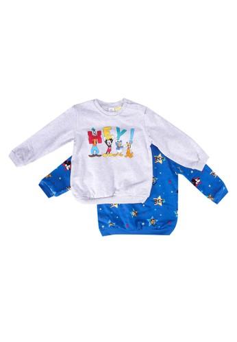 LC Waikiki white and blue 2-pack Baby Boy's Disney Printed Sweatshirt 9D78EKA51E8B19GS_1