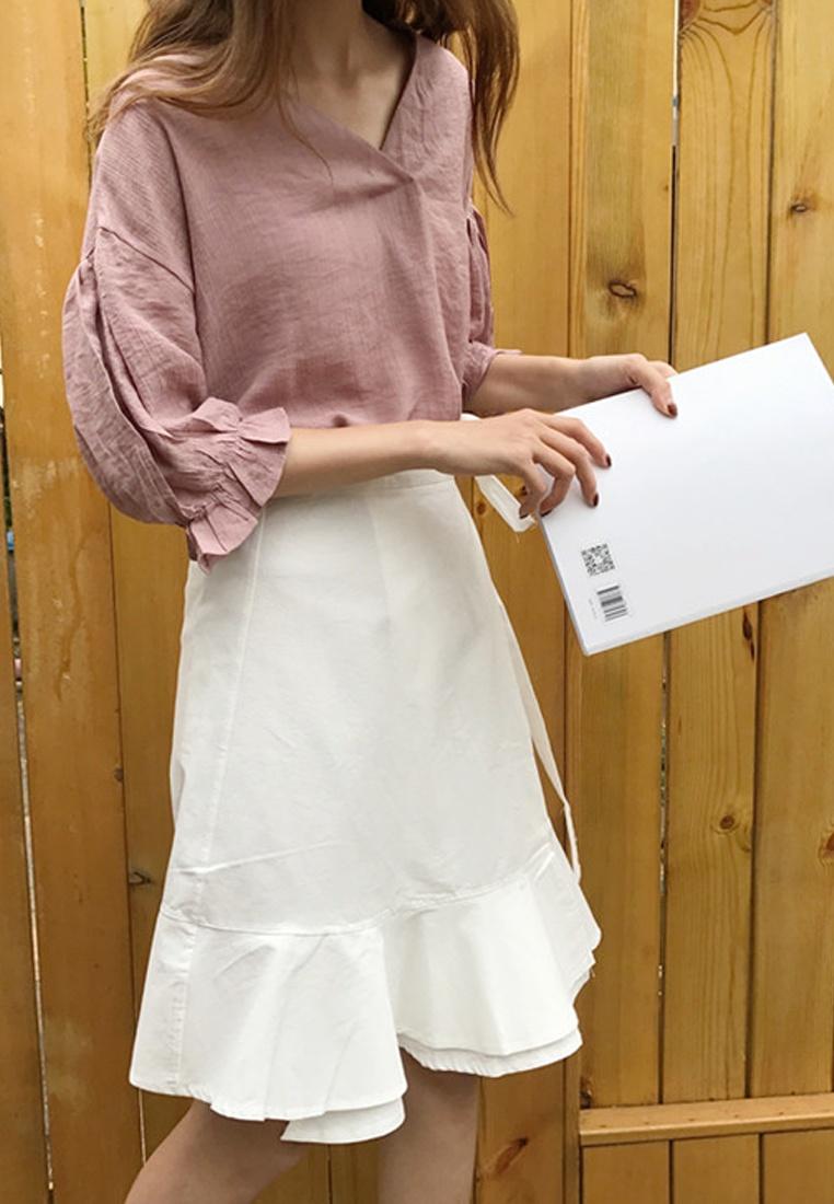 White 2018 S S Sunnydaysweety white Skirt Mini New Wrapped A041129W WPBIAAq
