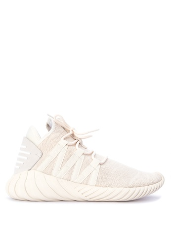 Adidas white and brown adidas originals tubular dawn classic shoes  AD678SH0KSWQPH_1