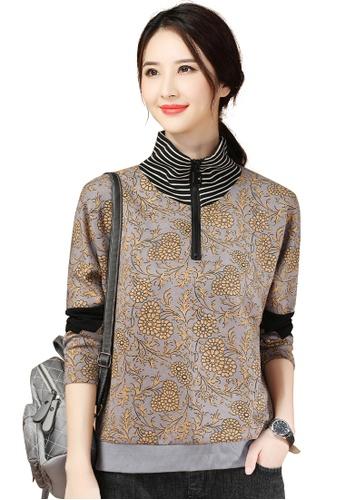 A-IN GIRLS multi Vintage Printed Turtleneck Sweater T-Shirt 319EEAA083C083GS_1