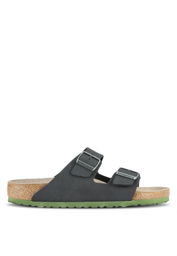 Birkenstock black Arizona Soft Footbed Desert Soil Camou Sandals BI090SH0RTJ6MY_1
