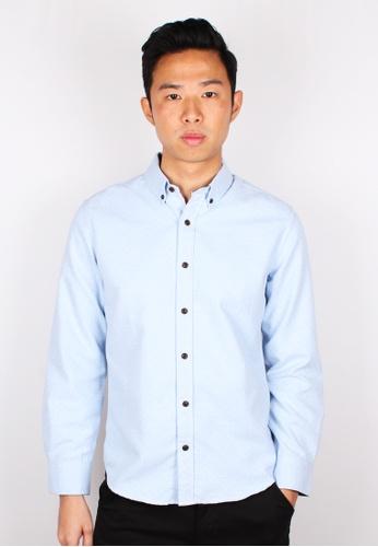 Moley blue Polka Dot Long Sleeve Shirt C38E1AAD7688E7GS_1