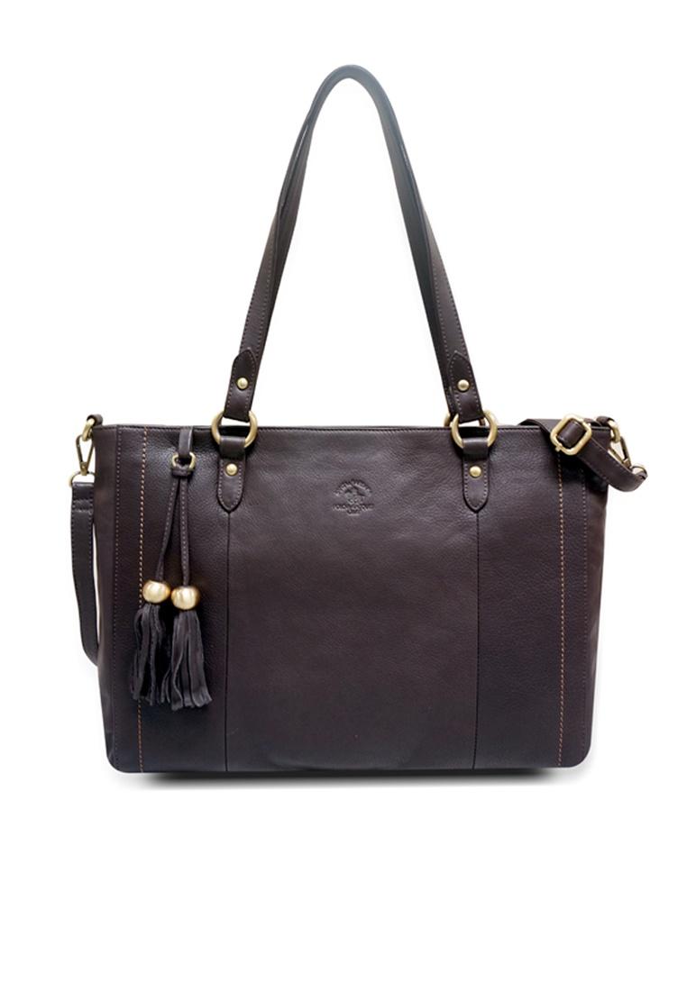 Polo Barbara Shopper Leather Black Santa Santa Racquet Club Bag Club