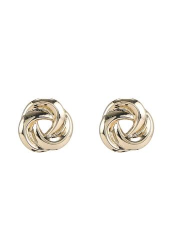 niko and ... gold Swirl Stud Earrings 6BEACACFD50997GS_1