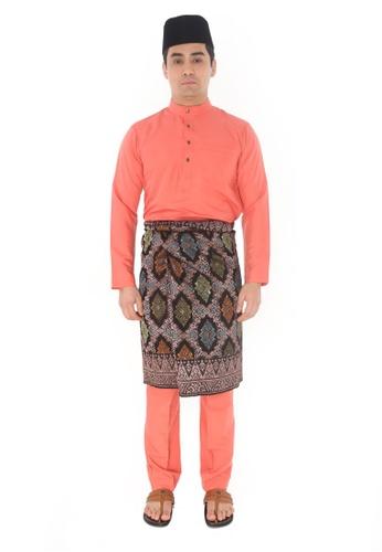 Amar Amran orange Baju Melayu Raja Sehari EDDB8AA9004F67GS_1