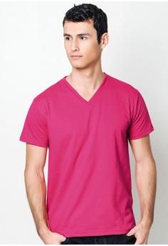 Bold Pink V-Neck T-Shirt
