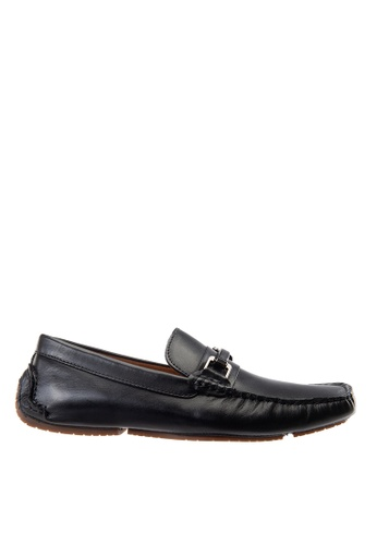 Hush Puppies black Hush Puppies Barca Saddle Loafer In Black 46185SH9CA3F1CGS_1