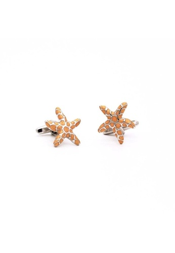 Red Stag And Hind orange Red Stag And Hind Aquatic Spotted Starfish Cufflinks C96F1AC952C9B5GS_1