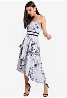 17f64e216d Lipsy navy Vip Mono Tori Bandeau High Low Prom Dress 44CB1AA4E42C0EGS 1