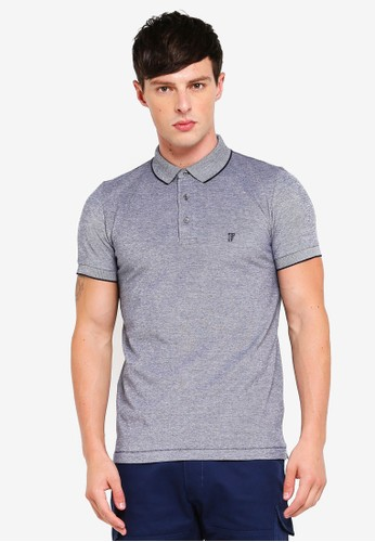 French Connection blue Summer Oxford Pique Polo 3F420AA8F4053EGS_1