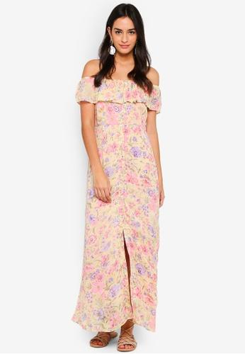 dcaf90292bc67 Buy TOPSHOP Floral Maxi Bardot Dress