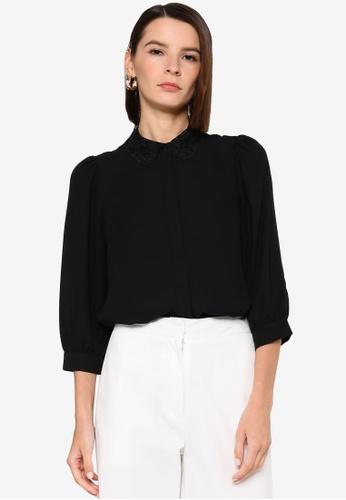 Vero Moda black Dorthe 3/4 Shirt 42FD4AA2AAC787GS_1