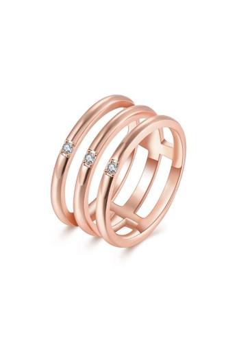 Tiaria pink Tiaria Popular Party Ring Rose Gold Plated Aksesoris Perhiasan Cincin AKR118-B-8--K16 44894ACE90E548GS_1