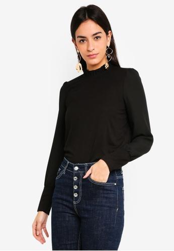 Vero Moda black Pippa Long Sleeve Top 37EF5AA635A885GS_1