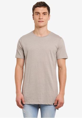 Factorie beige The Drop Tail Tee FA880AA0SABGMY_1