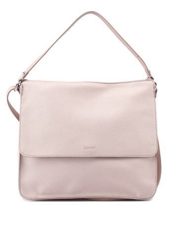 debc11e67507 Shop ESPRIT Faux Leather Shoulder Bag Online on ZALORA Philippines