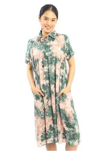 Agatha pink and green Agatha Abstract Green Pink Dress 2A2B1AA6BC478FGS_1