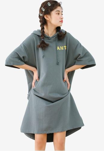 Shopsfashion blue Hoodies Shift Dress 9828FAA989B78EGS_1