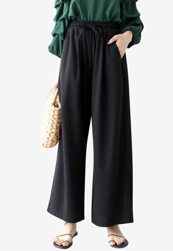 Tokichoi black Chiffon Wide Leg Pants 5FFA8AACE91B70GS_1