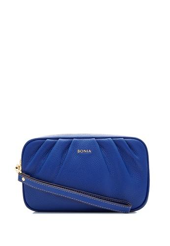 BONIA blue Dark Blue Sierra Pouch A5CFCAC74F1D6BGS_1