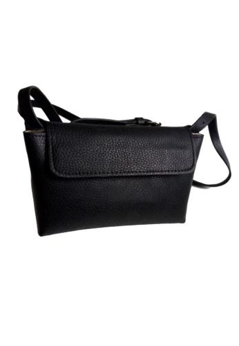 LULUGIFT black Lulugift Artist Inspired Mini Dumpling Black Sling Bag LU989AC44DWPMY_1