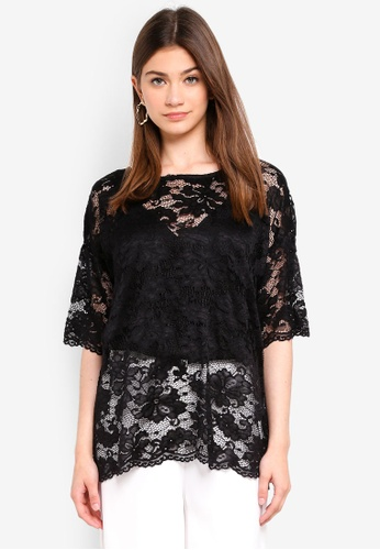 JACQUELINE DE YONG black Juan Lace Top 09CEFAA1D69CD2GS_1