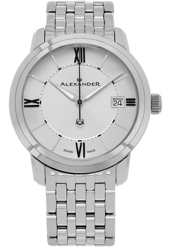 0b6e1dd5bd7 Alexander silver Alexander Macedon Mens Quartz Watch with Stainless Steel  Case on Stainless Steel Bracelet,