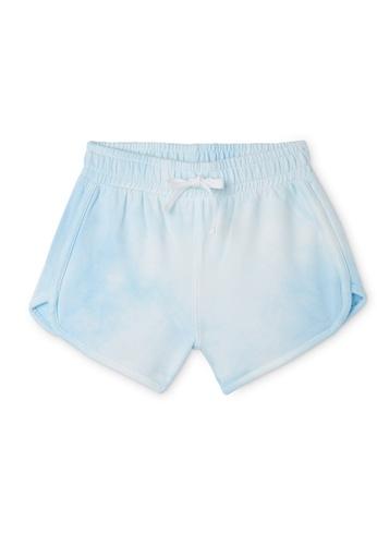 Gen Woo blue Tie Dye Sweat Shorts By Gen Woo 8D4EBKAA5FA773GS_1