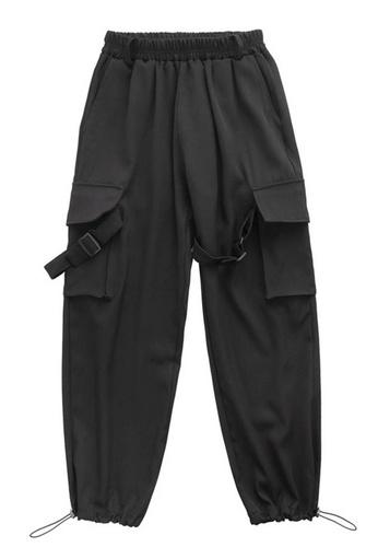 Sunnydaysweety black Causal Cargo Pants A21032320BK 20D9BAA4F4D02FGS_1
