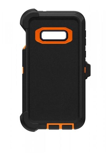 MobileHub black and orange Samsung S10e Extreme Hybrid Shockproof Case 13438AC0733F9CGS_1
