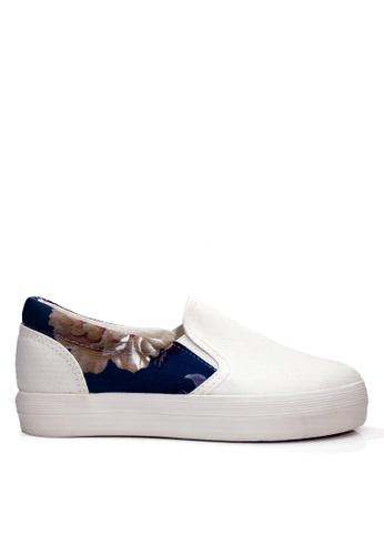 Twenty Eight Shoes 白色 印花布輕便鞋 VC9159 E1614SHF25C47AGS_1