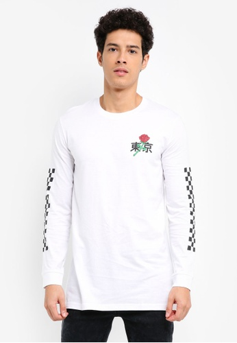 Factorie white Long Sleeve Amped Tall Tee AC2F3AAB4B81DAGS_1