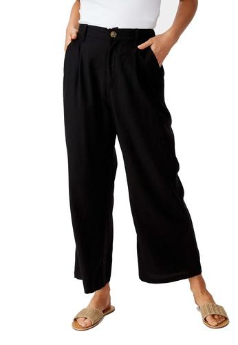 Cotton On black Cindy Wide Leg Pants 5A6B0AA5A598B5GS_1